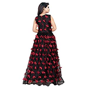 Active Feel Free Life Women's Net Embroidery Semi-Stitched Gown (Free Size)