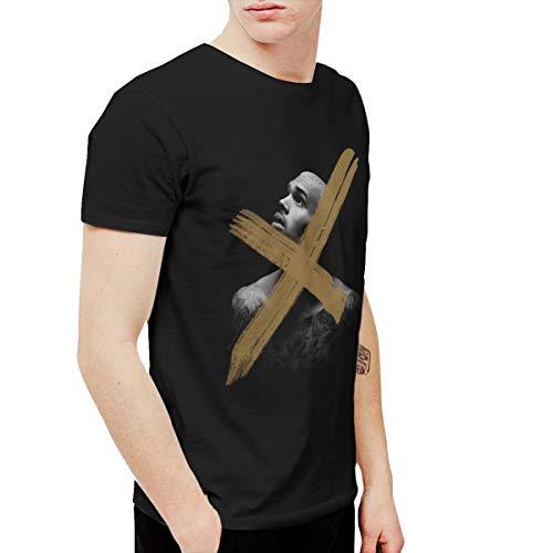 (Avis N Men's Chris Brown X Tshirt Black 3XL)