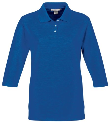Tri Mountain Women's 3/4-Sleeve Pique Knit Golf Shirt