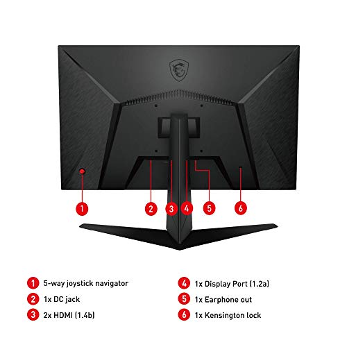 "MSI Optix G241 - Monitor Gaming de 24"" FullHD 144Hz (1920 x 1080p, Panel IPS, ratio 16:9, brillo 250nits,1 ms de respuesta, AMD FreeSync) Negro"