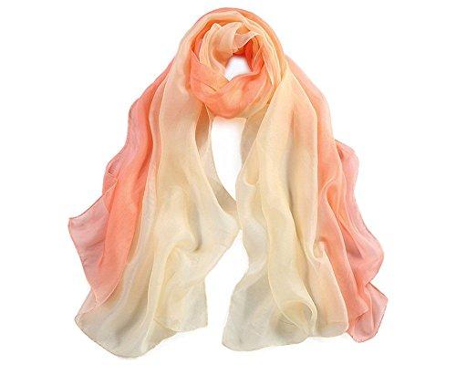 las 03 bufandas colores para larga de color de Bufanda de 180x70cm Todas 20 seda mujer Gradiente 5 moda T5qfBwBx