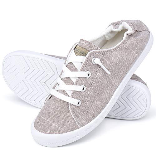 JENN ARDOR Women's Lightweight Comfort Casual Sneakers Girls Trendy Slip-on Sneakers Breathable Walking Shoes Low-Cut…