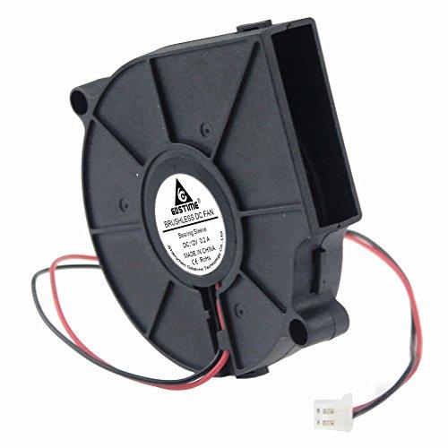 GDSTIME 75mm x 15mm 7515 Dc 12 Volt Brushless Blower Cooling Fan