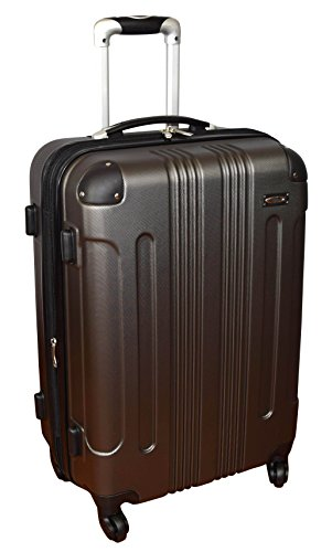 Kemyer Series 650 Hardside Luggage Spinner Wheeled Medium Suitcase 24-inch - Grey