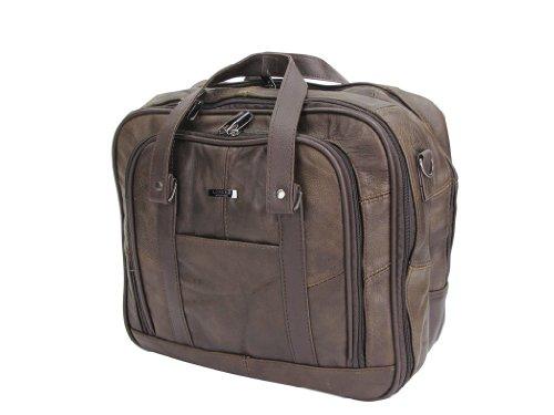 Lorenz - bolsa de viaje con correa para el hombro ajustable de cuero para Mujer marrón - marrón