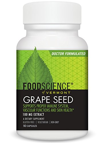FoodScience of Vermont- Grape Seed, 100 MG Capsule, 90 CT For Sale