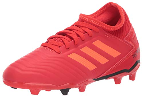 adidas Unisex Predator 19.3 Firm Ground, Active Red/Solar Red/Black, 3.5 M US Big Kid