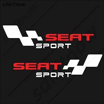 HANO 2pcs España Car Decal Bodys Deportes Racing PVC Etiqueta de Estilo para Seat Leon Ibiza Altea Córdoba Toledo Accesorios: Amazon.es: Coche y moto