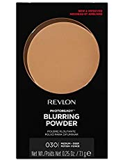 Revlon PhotoReady Pressed Face Powder with Brush, Longwearing Oil Free, Fragrance Free, Noncomedogenic Makeup