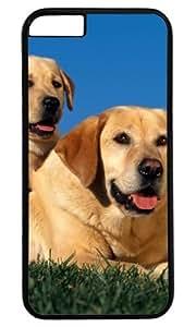 Beautiful Little Dog Sat on Mother's Back DIY Hard Shell Black Best Fashion iphone 6 Case