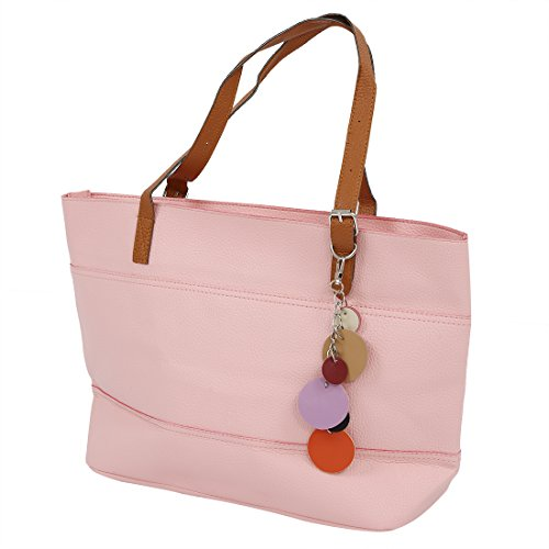 SODIAL Bolso Cartera de las muchachas de Colo dulces de las mujeres Bolso de hombro para Senora Bolso de compar Rosa rosa