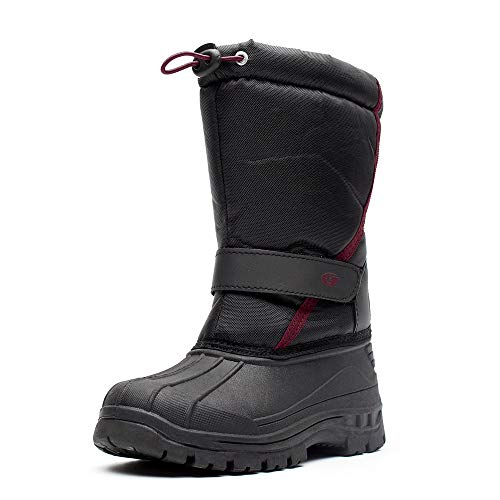 Cold Weather Fashion Boots - DREAM KIDS Boys Snow Boots Outdoor Waterproof Cold Weather WinterBootsfor Girls(Toddler/Little Kid) TXHDL02-Black02-25