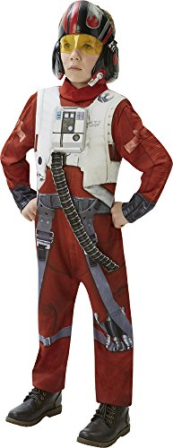 STAR WARS - THE FORCE AWAKENS ~ Poe X-Wing Fighter (Deluxe) - Kids Costume 9 - 10 (Force Awakens X-wing Pilot Costume)