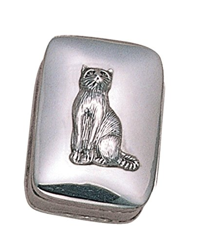 Wild Things Sterling Silver Cat Pill Box