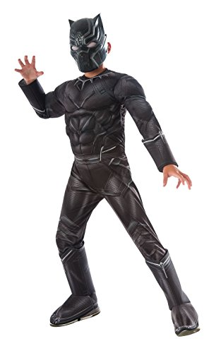 Black Panther Costume For Adults (Rubie's Costume Captain America: Civil War Deluxe Black Panther Costume, Child Large)