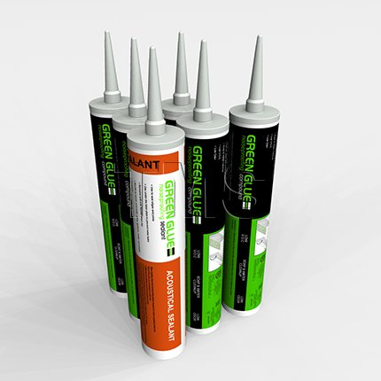 Green Glue Noiseproofing Combo Pack 6 Tubes (5 Green Glue - 1 Silenseal) by Green Glue Company