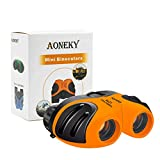 Aoneky Compact Mini Rubber 8 x 21 Kids Binoculars for Bird Watching, for Children, Recommended for Boys Age 3 to 11 Years Old