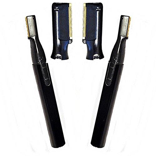 Two Bare it All Titanium Micro Trimmers + Two Replacement Blades ()