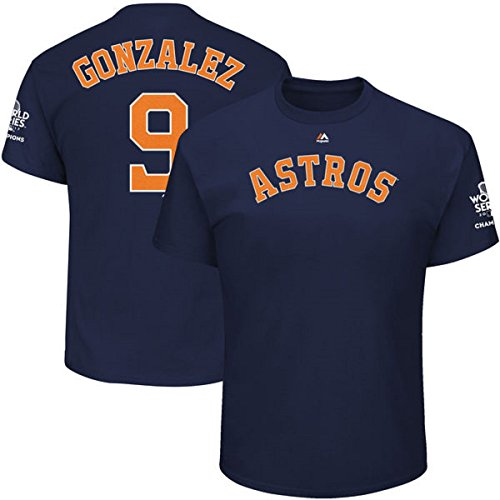 Outerstuff Marwin Gonzlez Houston Astros #9 MLB Youth 2017 World Series Champions Player T-Shirt (Youth Large 14/16)
