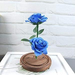 Longay Romantic Glass Rose Wedding Decoration Home Furnishing Holiday Gifts (Blue) 5