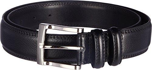 [Florsheim Men's Pebble Grain Leather Belt 32MM, Black, 32] (Leather Pebbled Buckle Belt)
