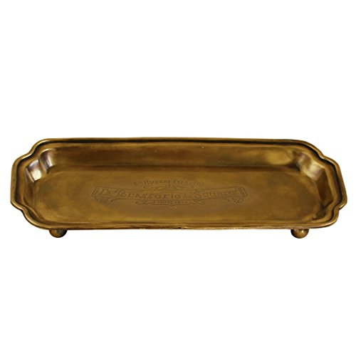 Time Concept QEDS1040 Tools Brass Stand Tray Wide