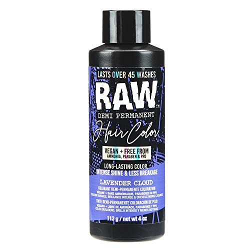 RAW Lavender Cloud Demi-Permanent Hair Color, Vegan, Free from Ammonia, Paraben & PPD, lasts over 45 washes, 4oz