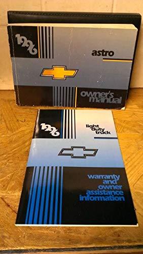 1996 Chevrolet Astro Owner's Manual