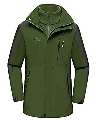 Amazon.com: Mens Waterproof 3-in-1 Winter Softshell