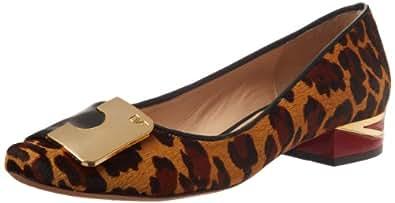 Diane von Furstenberg Women's Cornelia Ballet Flat,Camel Leopard Haircalf Print,7.5 M US