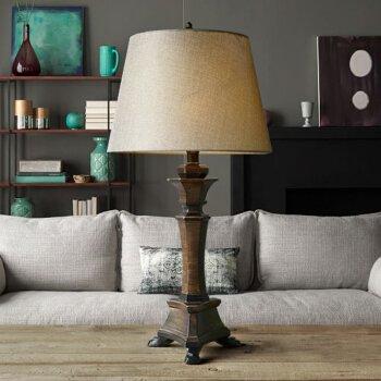 American Nordic Lamp Bedroom Bed Lamps Creative Minimalist Modern Retro Warm Light Warm Big Lamps  Brown