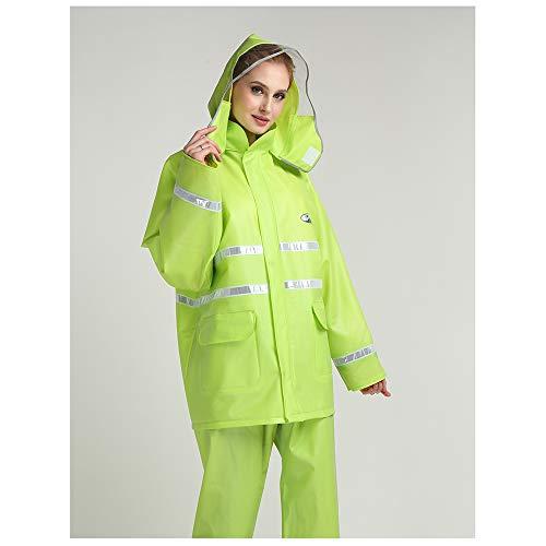Green Split Costume Adultes De Réfléchissant Raincoat Taille Green color Pluie Nouvelle M Épaisseur Geyao Et Hommes Sanitation Salopette Pantalon Femmes gFwBEARHqx