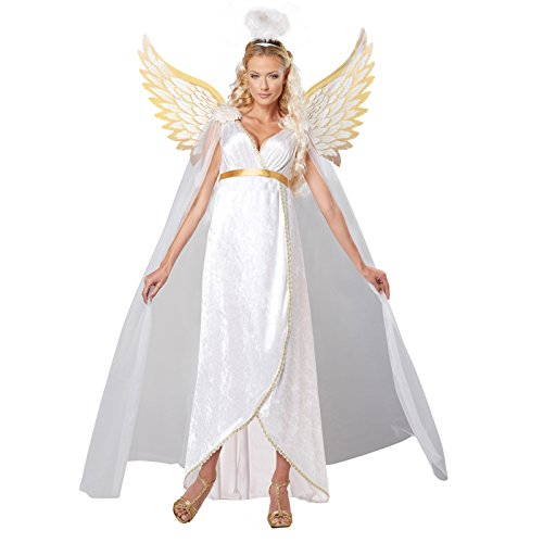White Angel Costume For Women (California Costumes Women's Guardian Angel Adult, White,)