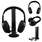 Iusun Popular 5In1 Wireless Heaset Casque Audio Sans Fil Ecouteur Hi-Fi Radio Fm Tv Mp3 Mp4
