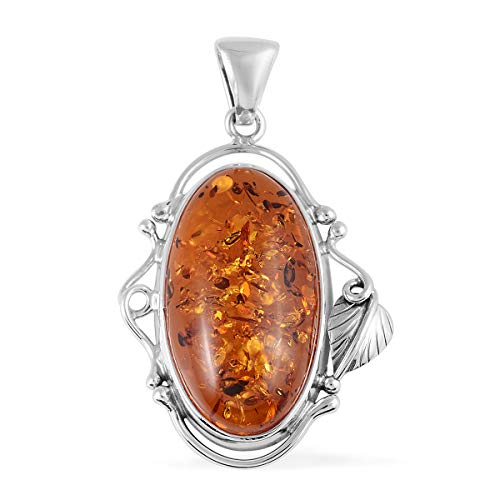 Pendant 925 Sterling Silver Oval Amber Boho Handmade Jewelry for Women (The Best Of Amber Lynn)
