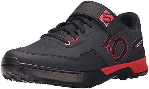 Five Ten Men's Kestrel Lace Mountain Bike Shoes (Clipless, Black/Red, (Mountain Bike Shoe Reviews)