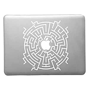 """WEV Labyrinth Pattern Transparent PC Hard Case for MacBook Air (Assorted Colors) , Green , 11.6"""""""