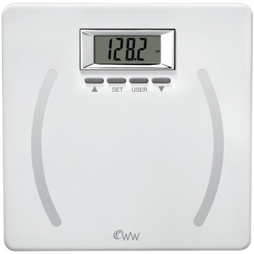 WW Scales by Conair Body Analysis Precision Bathroom Scale - Measures Body Fat, Body Water, BMI, Bone Mass, 4 User Memory, 350 lb. capacity
