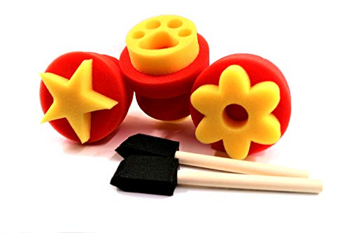 PANCLUB 3pcs Foam Stamps for Toddlers Learning Toys,Card