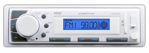 Pyle Bluetooth Marine Stereo Radio - 12v Single DIN Style Di
