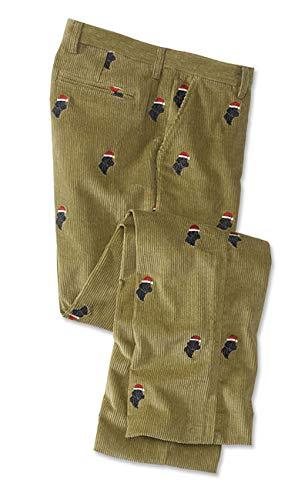 (Orvis Men's Embroidered Holiday Bozeman Cords, Khaki, 36W X 33 1/2 L)