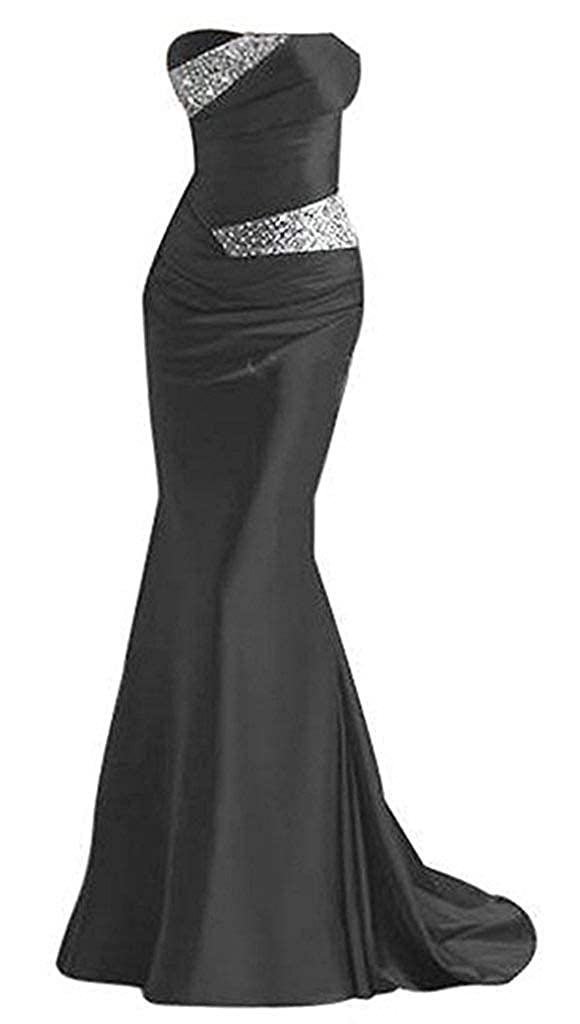 Black Tutu Vivi Womens Strapless Prom Quinceanera Dresses Long Beaded Evening Gowns Party