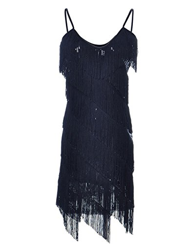 black fringe latin dress - 8