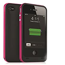Febe 2500mAh External Backup Power Battery Charger Case Cover For iPhone 5 5S - Hot Pink