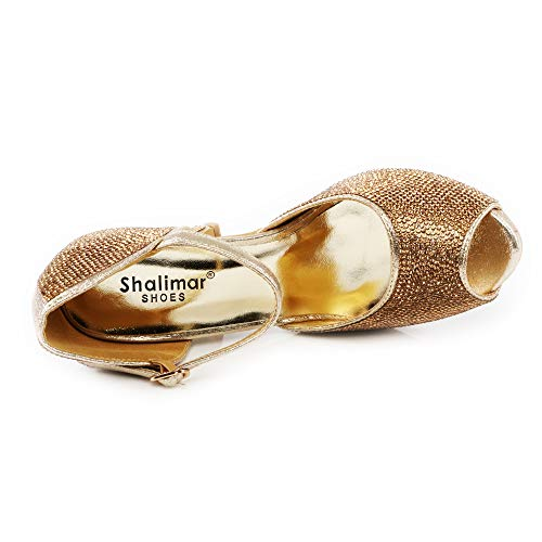 Shalimar Shoes Plateau Gold Donna Con qzrxwdAOqv