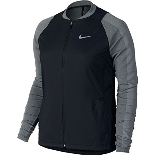 Nike Women's Hyperadapt Aerolayer Golf Jacket 725670 (Large, Black/Grey/Reflective