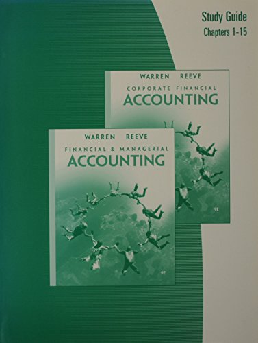 Study Guide, Chapters CF1-CF15 for Warren/Reeve/Duchac's Corporate Financial Accounting, 9th