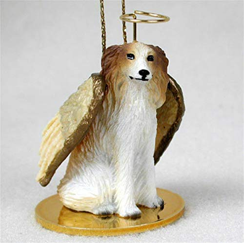 Ky & Co YesKela Borzoi Ornament Angel Figurine Hand Painted