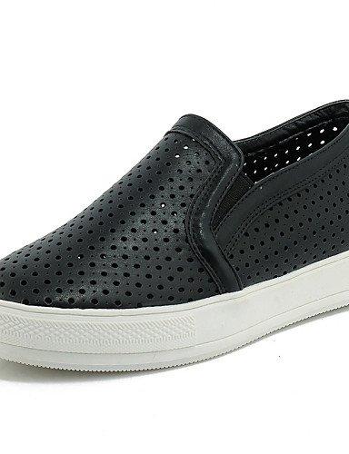 ZQ Zapatos de mujer - Plataforma - Plataforma / Creepers / Punta Redonda - Mocasines - Exterior / Vestido / Casual - Semicuero -Negro / Rosa , pink-us6 / eu36 / uk4 / cn36 , pink-us6 / eu36 / uk4 / cn pink-us10.5 / eu42 / uk8.5 / cn43