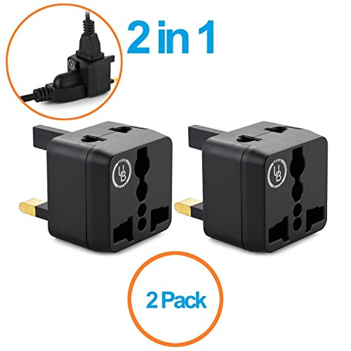 Yubi Power 2 in 1 Universal Travel Adapter with 2 Universal